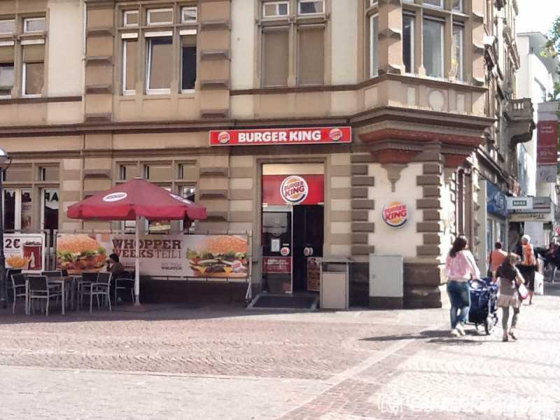 Burger King Restaurant Schnellrestaurant Take Away In
