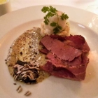 Foto zu Cox: Pastrami/Senfsauce/Coleslaw/Pale Ale Sorbet