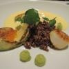 Jakobsmuscheln ,mit Avocado und Curry Sabayon
