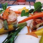 Foto zu Gaststätte Zur Krone: ...Safran-Wurzelpetersilie, Gartenkarotten und Hummersauce