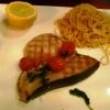 Schwertfischsteak mit Spaghettini
