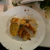 Hähnchenbrustfilet mit Kartoffel-Tomatenstrudel