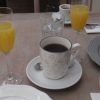 Orangensaft, Filterkaffee und  Espresso