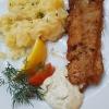 Goldbarschfilet (klein) mit Kartoffelsalat