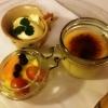 Crème Brûlée mit  hausgemachter  Orangenblütenhonig - Eis