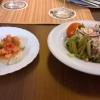 Bruschetta und Beilagensalat