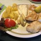 Foto zu Restaurant Zum Hirsch: Seelachs mit Spargel
