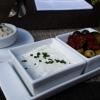Entenschmalz, Tomaten, Oliven