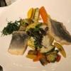 Wolfsbarschfilet, Weissweinsoße, Duftreis und Gemüseragout