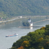 Blick auf die Pfalz Kaub im Rhein