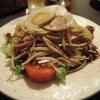 Italienischer Salat mit Essig und Öl