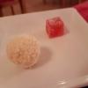 Petits  fours: Kokospraline  Grapefruitgelee