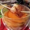 Rote Thai-Curry-Suppe mit gebratener Garnele