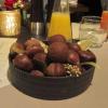Amuse Bouche - Kartoffelhülle mit Pilz-Rahm-Maronen