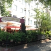 Eingang zum Biergarten Restaurant Schlossgarten