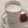 Kaffee macchiato und Plätzchen