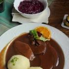 Foto zu Gaststätte Waldesruh E. Preisendörfer Gaststätte: Hirschbraten mit Klößen & Blaukraut