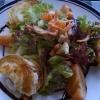 Gratinierter Ziegenkäse auf Salat