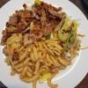 Sternflottengeschnetzelten-Geschnetzeltes vom Schwein in Speckrahmsoße mit Kräuterspätzle für 14,11 €