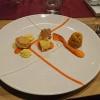 Kombination von Pfälzer Karotte und Buttermilch mit Limette