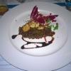 (Lauwarmer Linsen-Salat | Radicchio | Granatapfel | Stücke von Jakobsmuschel) /2