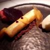 Wilder Prirsich, weiße Schokolade, Cassis