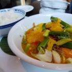 Foto zu Restaurant Alto im Atlantic Grand Hotel: Fruchtiges Edelfisch-Curry Limonenduftreis (mit frischem Abrieb)
