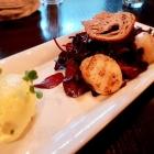 Foto zu Restaurant Alto im Atlantic Grand Hotel: Gegrillte Jakobsmuscheln, Senfmousse, Rote-Beete-Salat