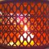 Fensterdeko mit Teelicht