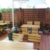 Terrasse auf der Hausrückseite