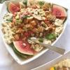 Schillerlocken mit Melonen-und Gurkenrelish
