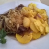 Rinderleber mit Bratkartoffeln