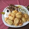 Souwlaki und Bratkartoffeln