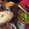 Reisplatte und Hauptspeisen