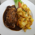 Foto zu Restaurant Hasengarten: Zwiebelrostbraten