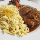 Foto zu Restaurant Hasengarten: Zwiebelrostbraten mit Spätzle