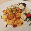 "Filet ""Pfeffer"", Rinderfilet in würziger Grünpfeffer-Sauce mit Bratkartoffeln"