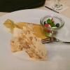 Parfait aus Mandelkrokant und Arancini mit Obstgarnitur