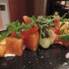 Bunter Melonensalat mit gebeiztem Zitronensaibling