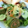 Museumsröllchen mit Salat