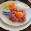 Halbe Portion Tartar mit Brot