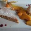 Mandeltarte-Pfirsichsorbet