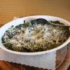 Spinat mit Parmesan gratiniert