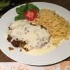 Connys Kochkäseschnitzel Spezial mit Spätzle und Salat  ( 11,90 € )