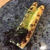 Spargel vom Green Egg, Pilzerde, Fichtensprossen