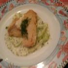 Foto zu Restaurant Augusta: Rotbarsch auf Gurkensalat