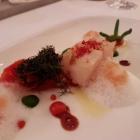 Foto zu Restaurant Weinhaus Uhle: Jakobsmuschel, Texturen der Tomate