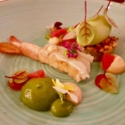 Foto zu Restaurant Weinhaus Uhle: Cara Royal Garnele, Sauerampfer, Avocado, Grapefruit-Tapioka