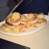 Pizza Brötchen Käse-Zwiebel
