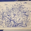 Landkarte des Fischland Draß-Zingst als Platzdeckchen
